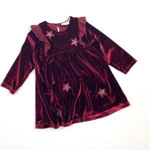 Zara Baby Girl Dark Red Dress 18-24m